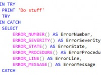 How to log errors with T-SQL try/catch